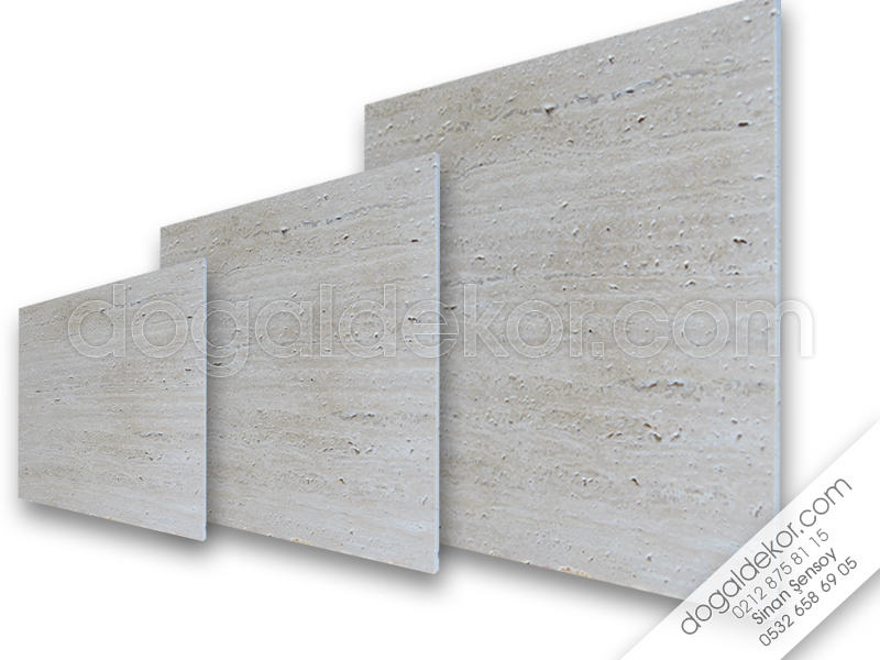 1.2 x 30 x 30cm Cilalı Traverten Mermer Fayans -DT1047
