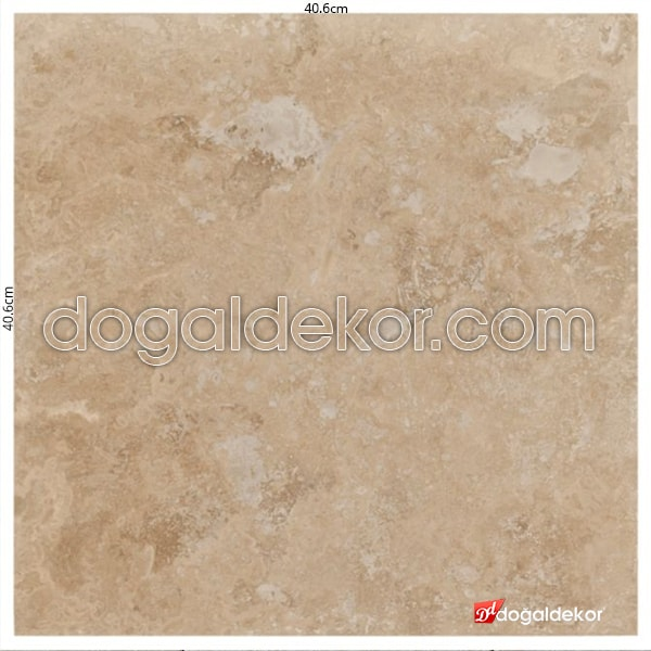 Cilalı 1.2 x 40.6 x 40.6cm Traverten Fayanslar  -DT1068