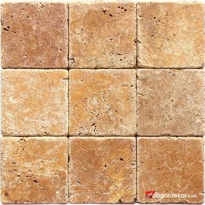 10x10 Eskitme Traverten Sarı Doğal Taş - DT1552