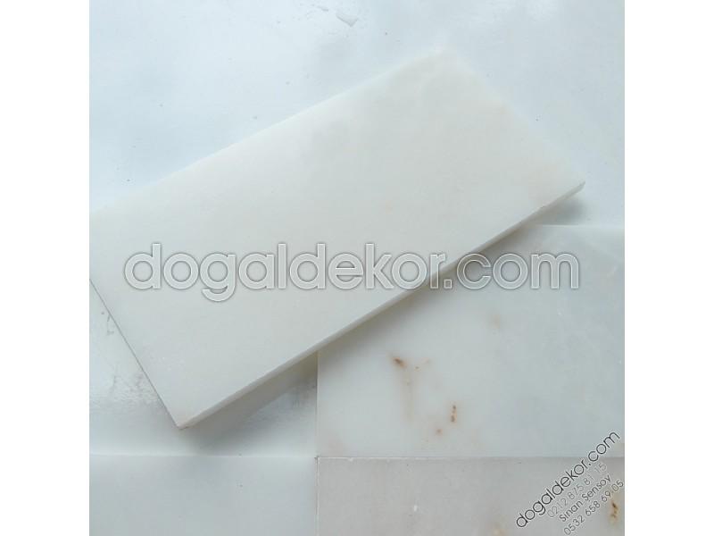 15cmx30 cm Afyon Beyaz Mermer -DT1145