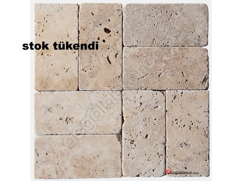 1x7.5x15cm Denizli Traverten Eskitme Fayans -DT1335