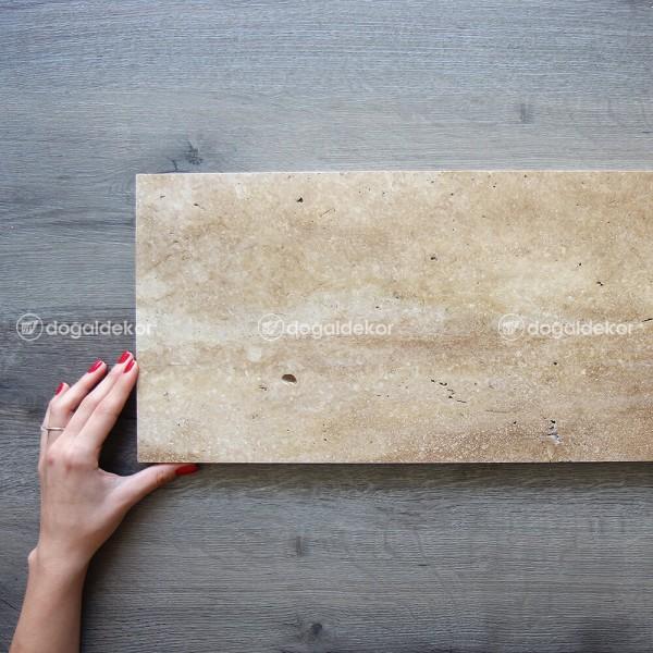 Traverten Taş Döşeme Denizli Cilalı  2x25xBoy - DT1677