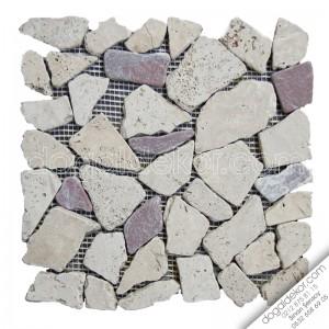 Paledyen Model Fileli Traverten Mozaik -DT1021
