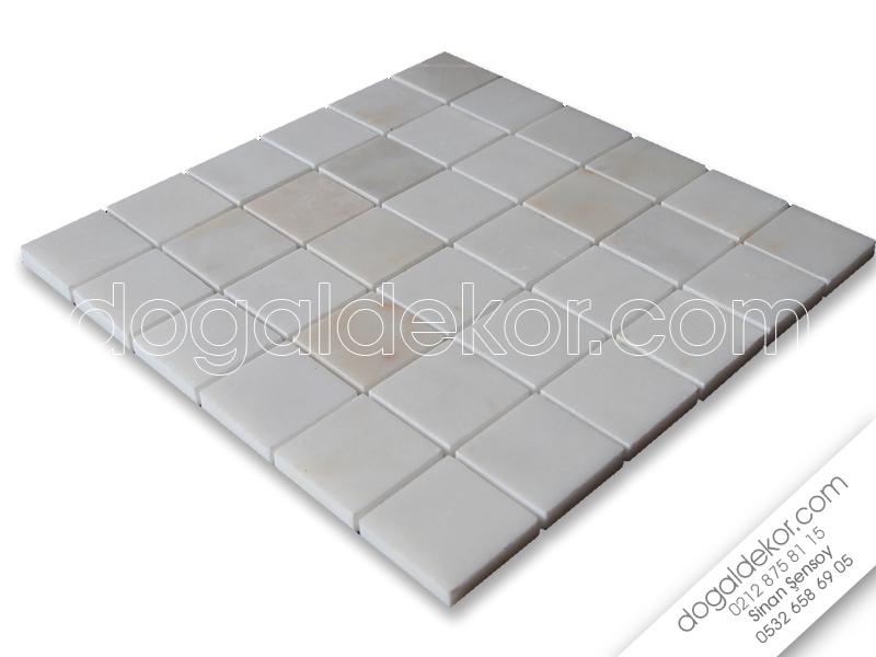 5x5 Fileli Cilalı Mermer Mozaik  - DT1064