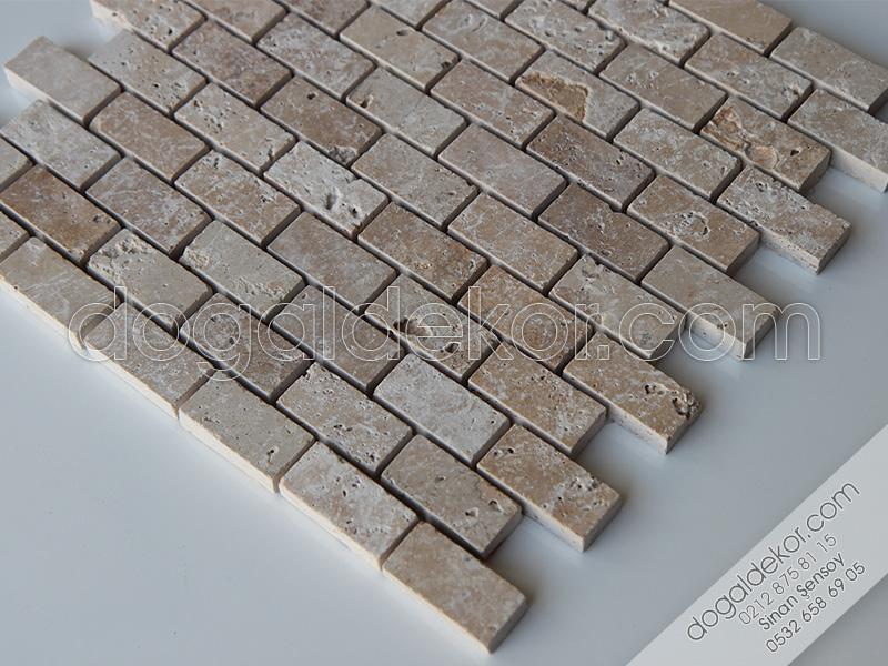 Eskitme Traverten Fileli Mozaikler (Düz Kenar) -DT1079