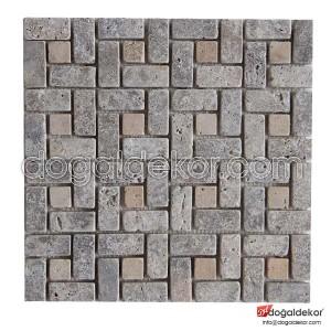Doğal Taş Mozaik Duvar Taşları Fileli -DT1191