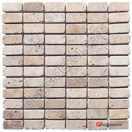 Eskitme Traverten Fileli Mozaik Doğal Taş -DT1263