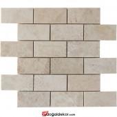 5x10 Bej Mermer Mutfak Tezgah Arası Doğal Taş Mozaik -DT1414