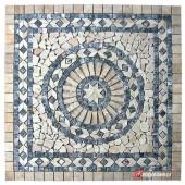 1 x 92 x 92cm Dekoratif Doğal Taş Mozaik Göbek Dekor -DT1341