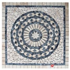 Dekoratif Doğal Taş Mozaik Göbek Dekor Madalyon 1 x 92 x 92cm -DT1342