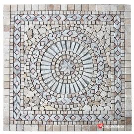 Dekoratif Doğal Taş Mozaik Göbek Dekor Madalyon 1 x 92 x 92cm -DT1343
