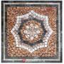 60x60cm Doğal Taş Mozaik Göbek Dekor -DT1427