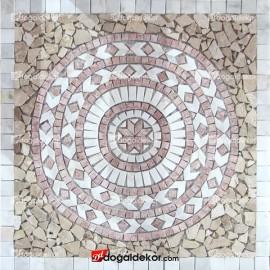 Dekoratif Mozaik Madalyon Yer Göbekleri 1 x 92 x 92cm - DT1534