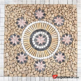 1 x 92 x 92cm Mermer Mozaik Göbek -DT1540