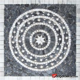 1 x 92 x 92cm Dekoratif Mozaik Madalyon Yer Göbekleri - DT1541