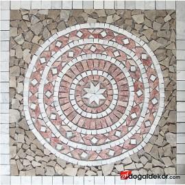 1 x 92 x 92cm Dekoratif Mozaik Madalyon Yer Göbekleri - DT1542