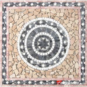 1 x 92 x 92cm Dekoratif Mozaik Madalyon Yer Göbekleri - DT1544
