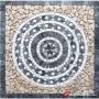 1 x 92 x 92cm Doğal Taş Mozaik Göbek Madalyon Dekor - DT1545