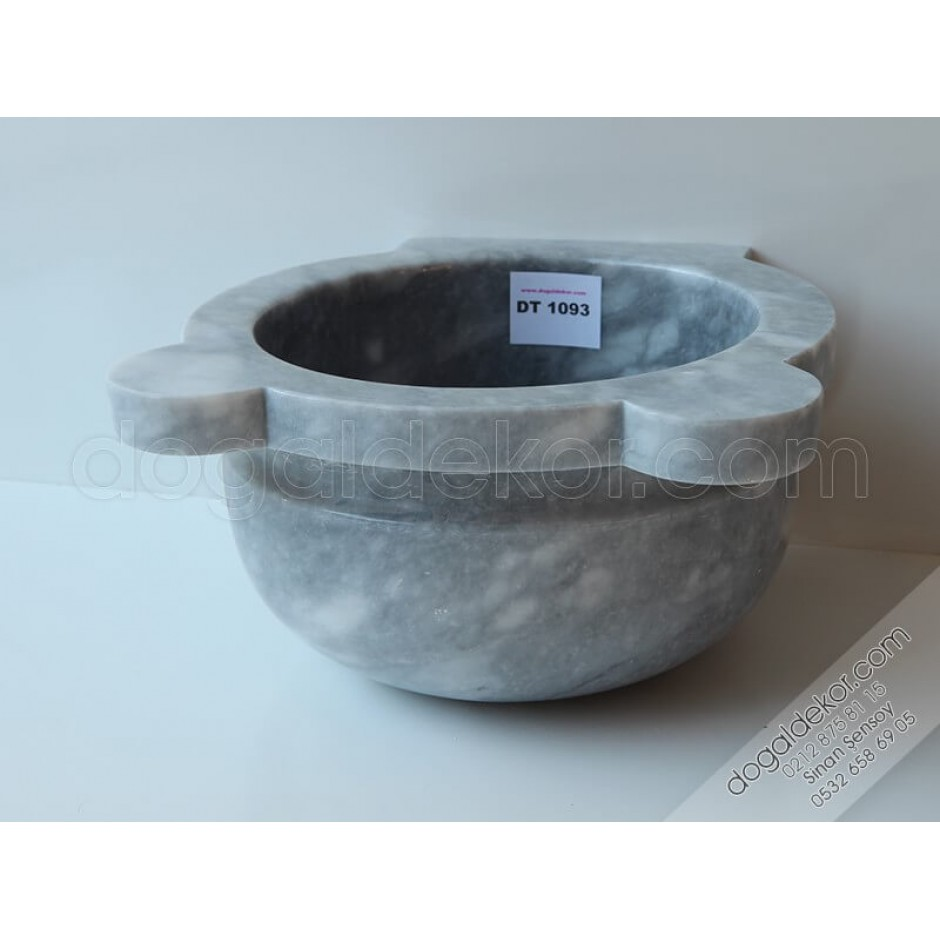 Gri Renk Mermer Hamam Kurnaları -DT1093