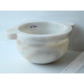 Beyaz Mermer Köşe Hamam Kurnaları -DT1094