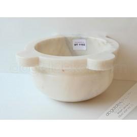 Sarı Pirinçli Afyon Beyaz Mermer Hamam Kurnası -DT1102