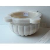 Afyon Mermer Kavun Dilimi İşlemeli Hamam Kurnası-DT1105