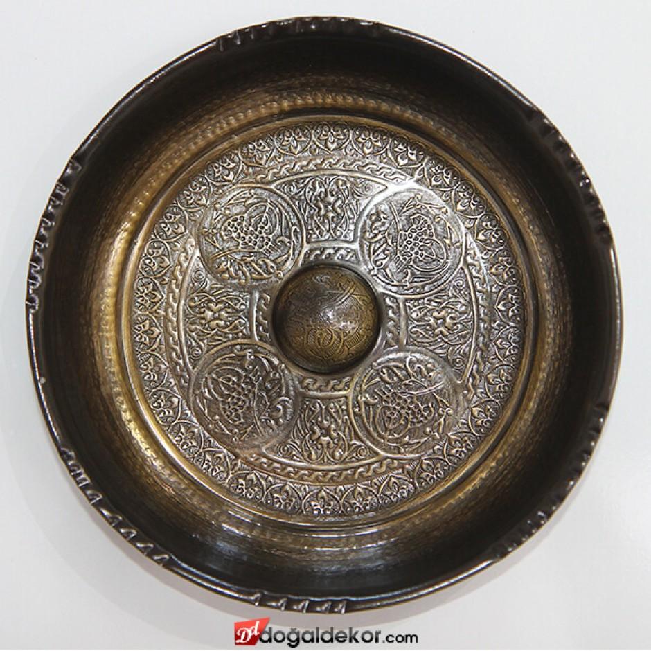 20.5cm Çapında Antik Osmanlı Motifi İşlemeli Hamam Tası-DT1410