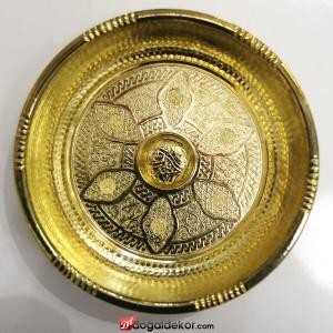 20.5cm Çapında Sarı Osmanlı Motifi İşlemeli Hamam Tası-DT1411