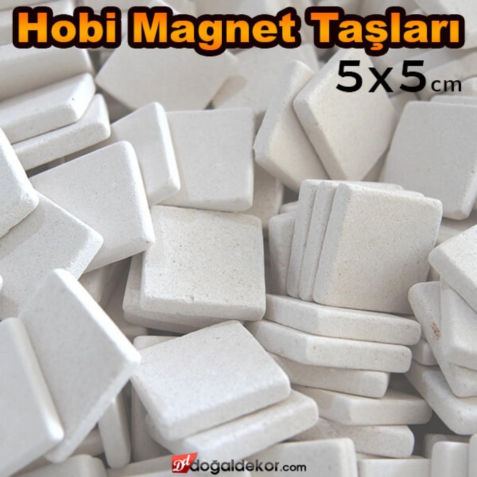 5x5 Limra Baskısız Boş Magnet Doğal Taş Hobi Taşları -DT1408