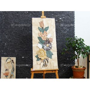 Dekoratif Taş Tablo Modelleri - Çiçek Buketi DT1594