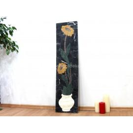 3 Boyutlu Mermer Mozaik Taş Tablo - 2 Sarı Papatya DT1601