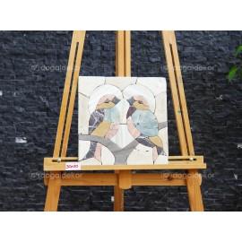 Duvar Dekorasyonu Doğal Taş Tablo - Kuşlar DT1590