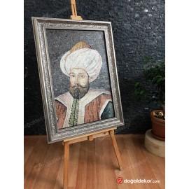 Mermer Mozaik Tablo Osmanlı Padişahları 1.Murad