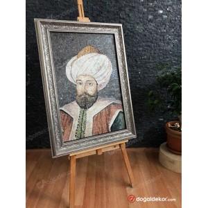 Mermer Mozaik Tablo Osmanlı Padişahları 1.Murad Han