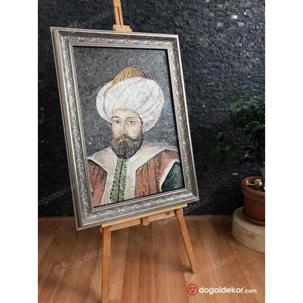 Mermer Mozaik Tablo Osmanlı Padişahları