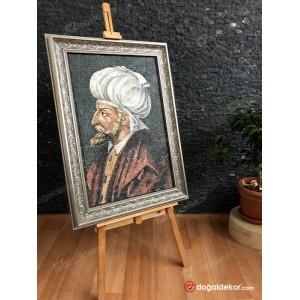 Mermer Mozaik Tablo Osmanlı Padişahşarı 2.Beyazid