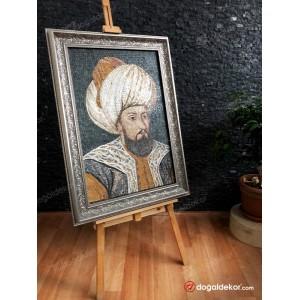 Mermer Mozaik Tablo Osmanlı Padişahları 2.Murad Han