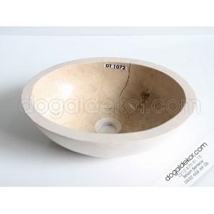 A+ Bej Mermer Küçük Lavabo Modelleri-DT1072