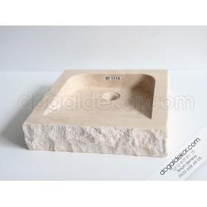 A+ Ucuz Dogal Tas Lavabo Modelleri -DT1115