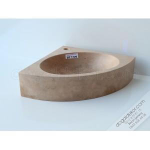 Traverten Köşe Banyo Lavabosu -DT1120