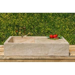 Barbekü Yanı Bahçeler için Traverten Lavabo-DT1135