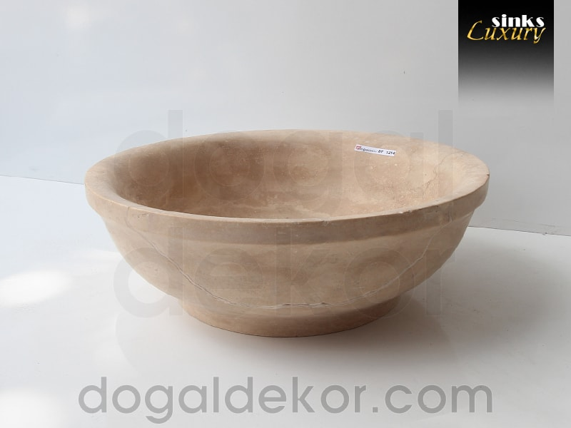 Banyo Dolabı Üstü Doğaltaş Lavabo- DT1214