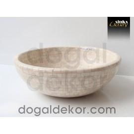Doğaltaş Banyo Tezgah Üstü Lavabo- DT1216