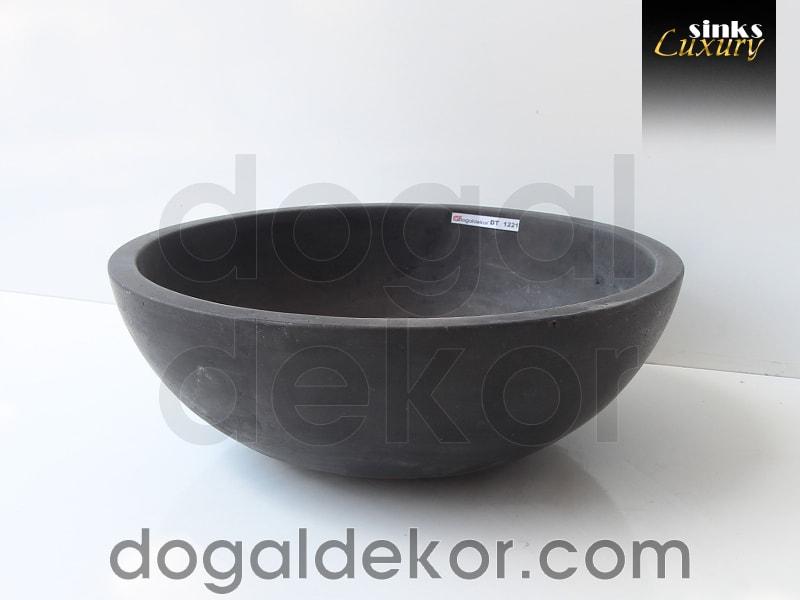Doğaltaş Tezgah Üstü Banyo Dolap Lavabosu- DT1221