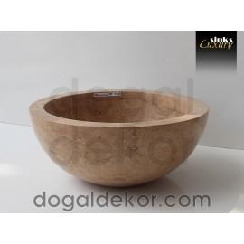 Doğaltaş Tezgah Üstü Banyo Dolap Lavabosu- DT1226