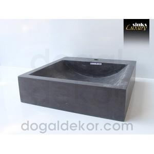 Doğaltaş Tezgah Üstü Banyo Dolap Lavabosu- DT1233