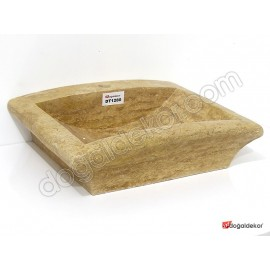 Doğal Taş Tezgah Üstü Banyo Lavaboları-DT1280