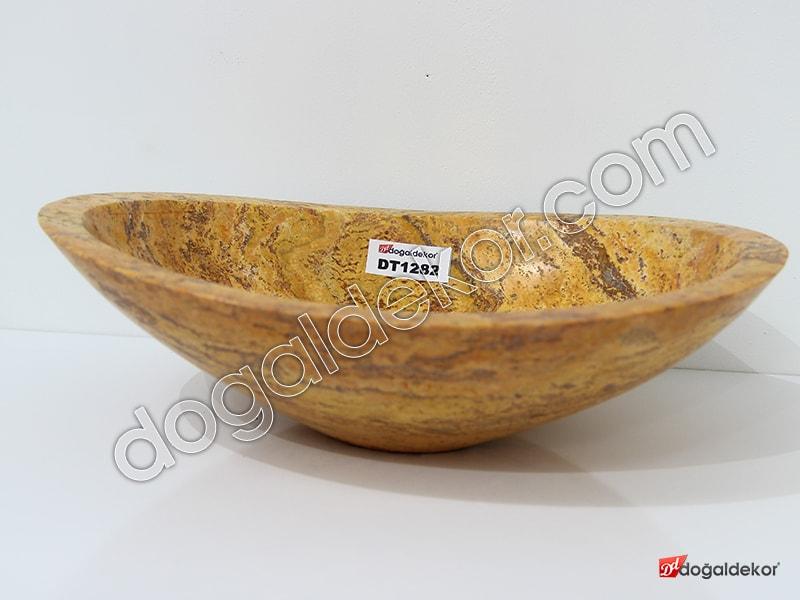 Doğal Taş Tezgah Üstü Banyo Lavaboları-DT1282