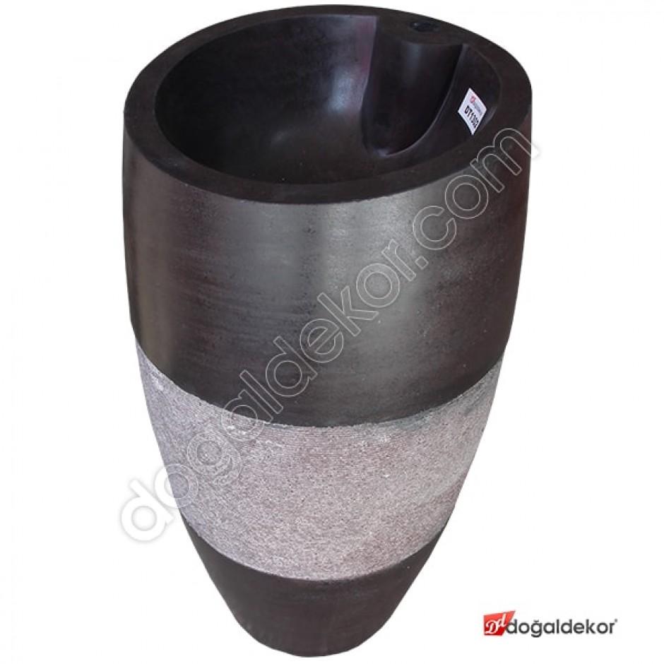 Doğal Taş Ayaklı Banyo Lavabosu- DT1302