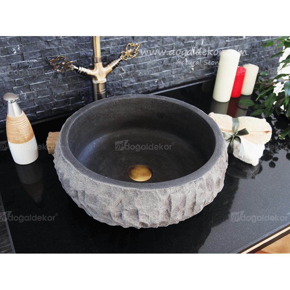 20x45 Siyah Doğaltaş Lavabo Fiyatları-DT1473